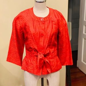 Orange 3/4 bell sleeve jacket